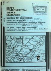 MD-43 Extension and US-1 Improvements, Baltimore County: Environmental Impact Statement