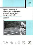 Regional Workshop on Preparedness and Response to Aquatic Animal Health Emergencies in Asia PDF