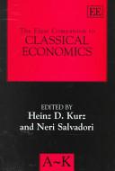 The Elgar Companion to Classical Economics