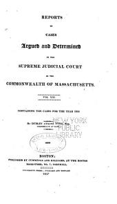 Reports of Cases Argued and Determined in the Supreme Judicial Court of the Commonwealth of Massachusetts: Volume 13