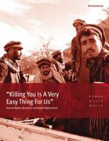 Killing You Is A Very Easy Thing For Us  PDF