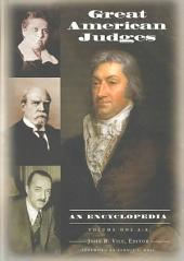 Great American Judges: An Encyclopedia, Volume 1