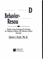 ADD   ADHD Behavior Change Resource Kit PDF