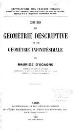 Cours de géométrie descriptive et de géométrie infinitésimale