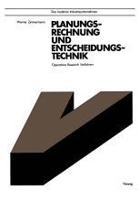 Planungsrechnung und Entscheidungstechnik PDF
