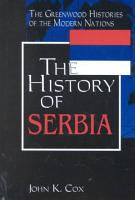 The History of Serbia PDF