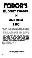 Budget Travel in America  1985 PDF