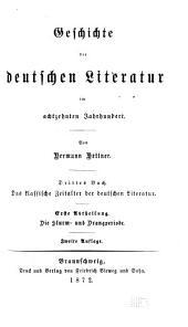 Literaturgeschichte des achtzehnten Jahrhunderts: Bände 5-6