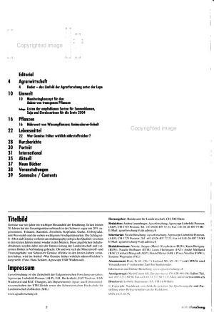 Agrarforschung PDF