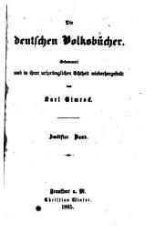 Die deutschen Volksbücher: gesammelt und in ihrer ursprünglichen Echtheit, Band 12