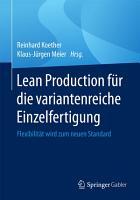 Lean Production f  r die variantenreiche Einzelfertigung PDF