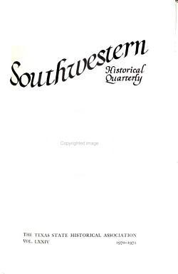 The Southwestern Historical Quarterly PDF