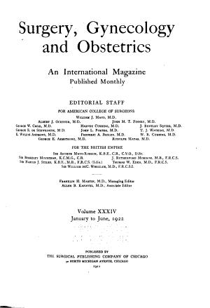 Surgery  Gynecology   Obstetrics PDF