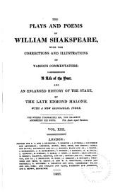The Plays and Poems of William Shakspeare: Volume 13