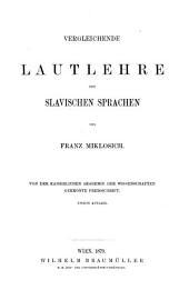 Vergleichende Grammatik der slavischen Sprachen: Band 1