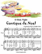 O Holy Night Cantique De Noel - Easy Piano Sheet Music Junior Edition