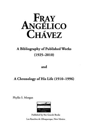 Fray Ang  lico Chavez PDF
