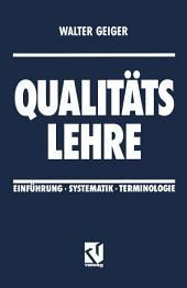 Qualitäts Lehre: Einführung · Systematik · Terminologie, Ausgabe 2