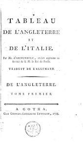 Tableau de l'Angleterre et de l'Italie