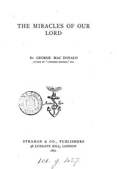 The Miracles of Our Lord PDF
