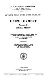 Fifteenth census of the United States: 1930: Unemployment, Volume 2