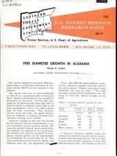 Tree diameter growth in Alabama