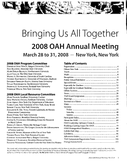 OAH Annual Meeting PDF