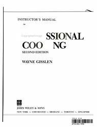 Professional Cooking Teacher S Manual Book PDF