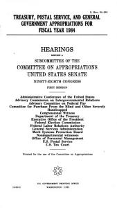 District of Columbia Appropriations for Fiscal Year 1984 PDF