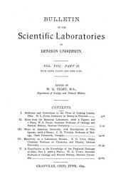 Journal of the Scientific Laboratories of Denison University: Volume 8