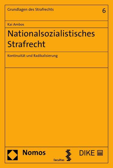 Nationalsozialistisches Strafrecht PDF