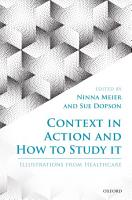 Context in Action and How to Study It PDF
