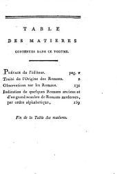 Traité de l'origine des romans: par Huet, évêque d'Avranches; suivi d'observations et de jugemens sur les romans français; avec l'indication des meilleurs romans qui ont paru, sur-tout, pendant le dix-huitieme siecle, jusqu'à ce jour