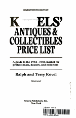 Kovels Antiques & Collectors Price List