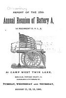 Report of the     Annual Reunion of Battery  A  Association     PDF