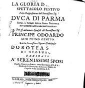 La gloria d' amore spettacolo festivo fatto rappresentare dal serenissimo sig. duca di Parma ... Poesia d' Aurelio Aureli ... musica di Bernardo Sabadini ..