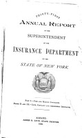 Annual Report of the Superintendent of Insurance to the New York Legislature PDF