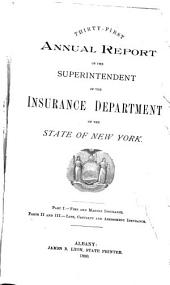 Annual Report of the Superintendent of Insurance to the New York Legislature: Volume 1890
