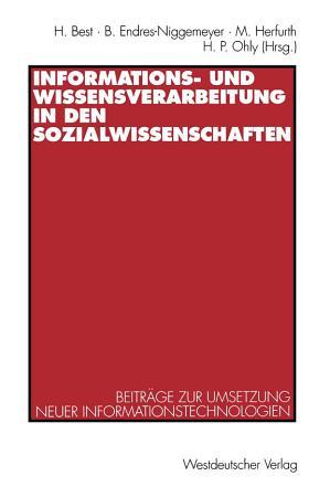 Informations  und Wissensverarbeitung in den Sozialwissenschaften PDF