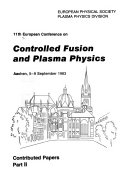 11th European Conference on Controlled Fusion and Plasma Physics, Aachen, 5-9 September, 1983