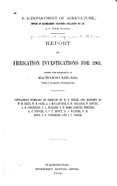 Annual Report of Irrigation and Drainage Investigations ... 1900-1904: Issue 119