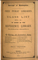 Class List of the Books in the Reference Library PDF