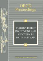 Foreign Direct Investment and Recovery in Southeast Asia PDF