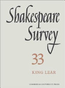 Download Shakespeare Survey  Volume 33  King Lear Book