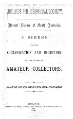 A Scheme for the Organization and Direction of the Efforts of Amateur Collectors