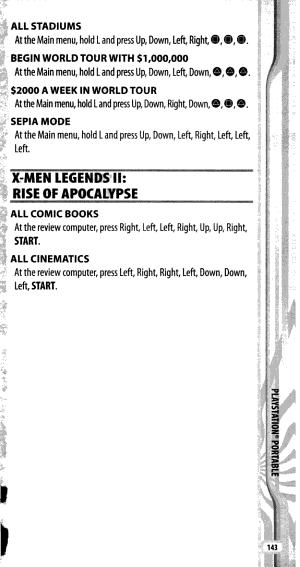 PlayStation 2 Secret Codes 2006