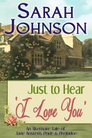 Just to Hear  I Love You  PDF