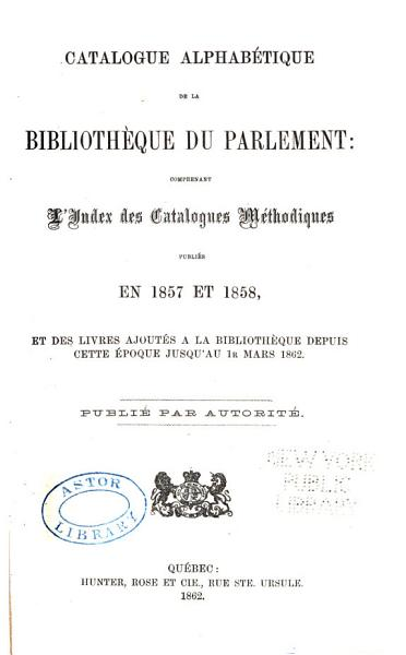 Download Alphabetical Catalogue of the Library of Parliament Book