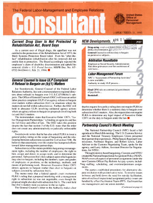 The Federal Labor management and Employee Relations Consultant PDF