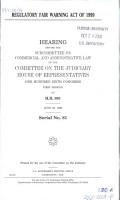 Regulatory Fair Warning Act of 1999 PDF